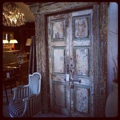 .Antique doors at the warehouse