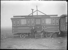 Travelling showman's caravan. Photo courtesy of the Arthur J Fenwick Collection of circus material, Tyne & Wear Archives & Museums Old Circus, Vintage Circus, Night Circus, Circus Pictures, Travel Trailer Remodel, Travel Trailers, Gypsy Living, Gypsy Caravan, Evil Clowns