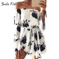 8166507b42c2 New Summer Playsuit Women Kimono Chiffon Boho Floral Playsuit Print Ruffles  All-match Lady Sexy Beach Girls Playsuit. Dress ...