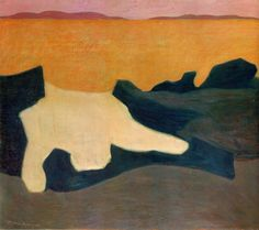 """Milton Avery (USA 1885-1965) Sunset (1952) oil on canvas 107.3 x 122.2 cm Brooklyn Museum, New York """