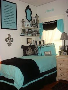 Decor 2 Ur Door: Tiffany Style Bedding - Dorm Room Bedding and Decor, Dorm Room Decorating Ideas, Sorority Bedding and Decor, Graduation Gift Ideas