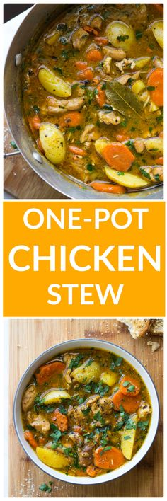 Chicken Stew Best chicken stew with chicken thighs and potatoes. It's thick and insanely satisfyingBest chicken stew with chicken thighs and potatoes. It's thick and insanely satisfying Best Chicken Stew, Stew Chicken Recipe, One Pot Chicken, Chicken Recipes, Slow Cooker Recipes, Soup Recipes, Crockpot Recipes, Dinner Recipes, Cooking Recipes