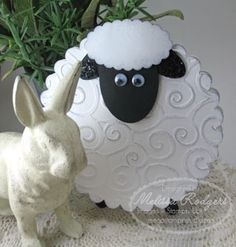 A lamb card made with punches-how cute!