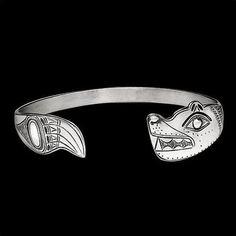 Bear Tribal Sterling Silver Cuff Bracelet | Nature Jewelry