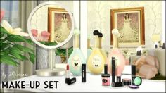 Sims 4 Updates: Martine's Simblr - Objects, Decor : Perfume Bottles, Lipsticks, Make-Up Set, Vanity Mirrors, Custom Content Download!