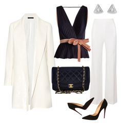 """""""Без названия #238"""" by natali26-72 ❤ liked on Polyvore featuring Roland Mouret, The Row, Roksanda, Christian Louboutin and Chanel"""