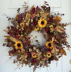 fall garden wreath