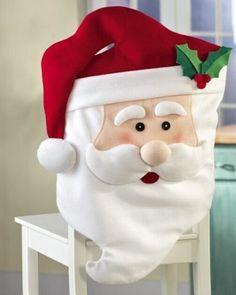 Mejores 39 Im 225 Genes De Forros Para Sillas Navidad En Pinterest En 2018 Christmas Crafts Christmas Chair Y Christmas Decorations