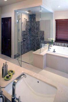 Modern Shower/Bath Combination with Threshold ProLine Installation - modern - showers - other metro - Quick Drain USA Bathroom Trends, Bathroom Spa, Small Bathroom, Master Bathroom, Bathroom Ideas, Bathroom Remodeling, Remodeling Ideas, Fancy Bathrooms, Bathroom Showers