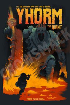 YHORM THE GIANT Video Game Poster Art