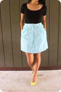 Shorts to Skirt Refashion