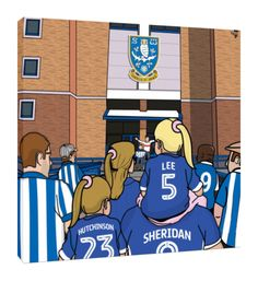 SWFC Family – personalised Canvas