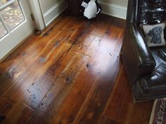 Dig the wide plank distressed floor. all-american pub floor in white pine wide plank flooring beautiful stain