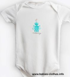 Cuddle Bug- Organic Cotton, Hand Painted Baby Onesie/Bodysuit - http://www.babies-clothes.info/cuddle-bug-organic-cotton-hand-painted-baby-onesiebodysuit.html