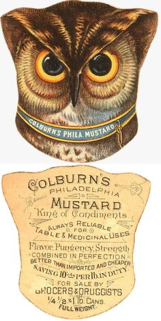 Die Cut Trade Card advertising Colburn's Philadelphia Mustard - Published in the…