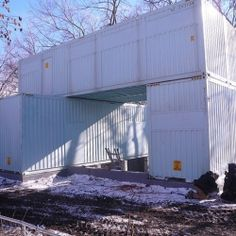 How to Convert Five Shipping Containers Into a Cozy Modern Home.
