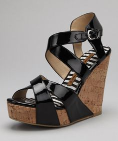 Take a look at this Black Patent Drastic Wedge by Blow-Out: Women's Shoes on #zulily today!