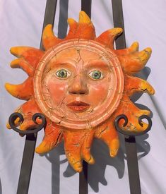 This is a multicolor sun I created with mixed materials and painted with acrylics! It is one of the my first suns from my first collection. To see more please check out my Etsy store! League Of Extraordinary, Garden Plaques, Orange Aesthetic, Sun Art, Tropical Decor, Dremel, Dream Homes, Canvases, Acrylics
