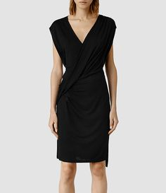 Womens Helix Dress (Black) - ALLSAINTS