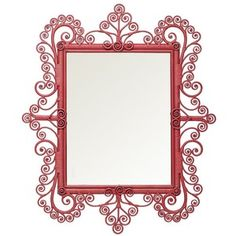 Serena & Lily Peacock Scroll Mirror – Tropical Pink