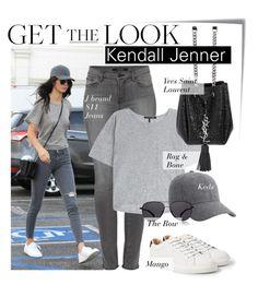 """Celebrity Look - Kendall Jenner"" by monmondefou ❤ liked on Polyvore featuring moda, Post-It, MANGO, J Brand, rag & bone, Keds, Yves Saint Laurent, The Row, celebrity ve CelebrityLook"