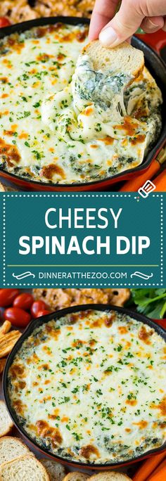 spinach-dip-recipe-cheese-dip-hot-dip-dip-spinach-cheese-appetizer-lowc/ - The world's most private search engine Yummy Appetizers, Appetizers For Party, Appetizer Recipes, Snack Recipes, Healthy Recipes, Recipes For Dips, Dip Recipes For Parties, Chip Dip Recipes, Healthy Dip Recipes