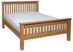 Devonshire new oak king sized bed Simple Furniture, Bed Furniture, Furniture Design, Wood Bed Design, Wooden Main Door Design, Oak King Size Bed, Diy Platform Bed, Door Design Interior, Wood Beds