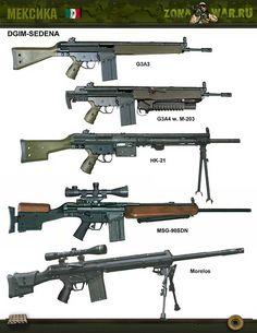 Firearms Military Weapons, Weapons Guns, Guns And Ammo, Rifles, Tactical Equipment, Military Equipment, Battle Rifle, Weapon Concept Art, Cool Guns