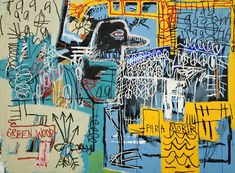 basquiat collograph lesson