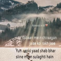 Shayari :: Ashaar is a musical form of poetry to express deep feelings & sentiments in all their forms through rhythmic words. Follow Aawaaz:e:di♥️ on Instagram