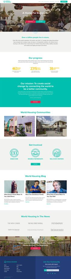 World Housing website Community Housing, Non Profit, Change The World, Charity, Web Design, Website, Branding, Ideas, Design Web
