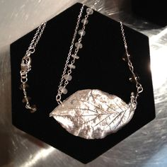 Fine Silver Dogwood Leaf  with Moonstone Crystal & by 2CityStudio, $90.00  love this-love dogwoods and moonstone