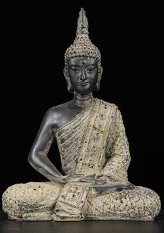 View the Stone Buddha Thai Garden Statue 11""
