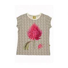 Clothing | VIVAIODAYS Nui SHILO TEE - WHITE TEXT FLOWER $25.00
