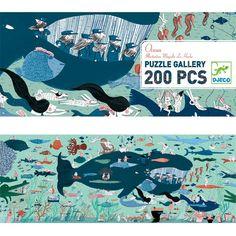 Krásně ilustrované puzle se spoustou zajímavých detailů. Motiv obrázku je život pod hladinou oceánu. Puzzle se skládají z 200 dílků, jsou vhodné pro děti od cca 6 let. Dílky jsou vyrobeny z kvalitní odolné lepenky. Jigsaw Puzzles, Kids Rugs, Gallery, Artwork, Poster, Animals, Christmas 2014, Christmas Gifts, Babies