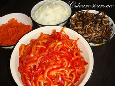 Salata de toamna (opintici, gogosari, ceapa, morcovi) – Culoare si Arome Thai Red Curry, Ethnic Recipes, Food, Salads, Meals, Yemek, Eten