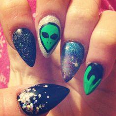 Alien galaxy nails