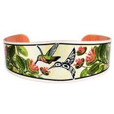 'Hummingbird' Artist Collection Copper Bracelet