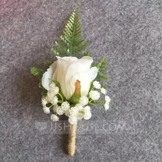 Boutonniere Ivory Groom Groomsman Best Man Rose Flowers Wedding Bouquet Accessories Party Bride Suit Decoration – T-Shirts & Sweaters Beach Wedding Flowers, Flower Bouquet Wedding, Floral Wedding, Wedding Colors, Best Man Wedding, Perfect Wedding, Wedding Day, Wedding Ceremony, Wedding Venues