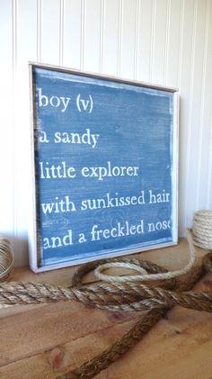 Meet Me Bye The Sea Beach Boy Sign by MeetMeByeTheSea on Etsy