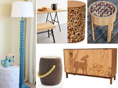 muebles con tapones de corcho