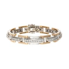 18k Gold Diamond Gentlemen's Bracelet