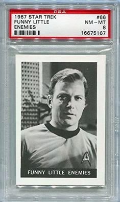 1967 Leaf Star Trek - Funny Little Enemies - William Shatner #66 PSA 8 NM-MT (Graded Non-Sports Card @ niftywarehouse.com