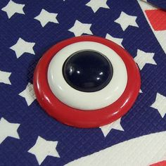 """2"""" Large Red, White, & Blue Vintage Brooch / Pin from ruthsredemptions on Ruby Lane"""