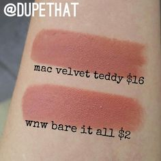 """Who doesn't love @maccosmetics ""velvet teddy""? We feel like this color is a must have. But you can get the same color AND finish from @wetnwildbeauty in…"""