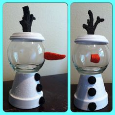 Olaf Inspired Candy Jar from Frozen by GCraftyHands on Etsy