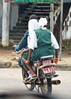 School transport, Monrovia, Liberia