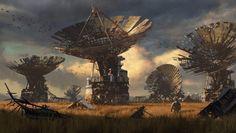 Fallen Radar Dishes