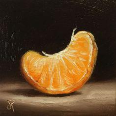 Little Orange Segment J Palmer original oil painting Still Life