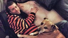 375-pound 'minipig' inspires 2 men to go vegan. Esther the wonder pig with one of her owners and family dog
